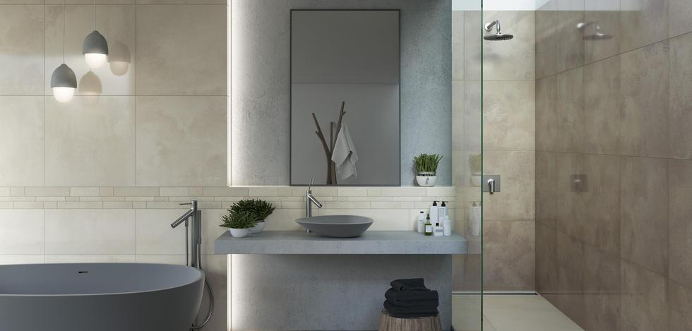 Naturstone - Salon, Przedpokój, Balkon i taras