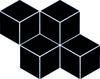 Uniwersalna Mozaika Prasowana Nero Paradyż Romb Hexagon 20,4x23,8 23,8 x 20,4 cm