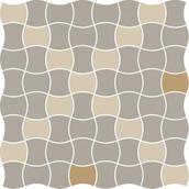 Modernizm Bianco Mozaika Prasowana K.3,6X4,4 Mix D 30,86x30,86 Modernizm 30,9 x 30,9 cm