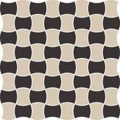 Modernizm Nero Mozaika Prasowana K.3,6X4,4 Mix C 30,86x30,86 Modernizm 30,9 x 30,9 cm