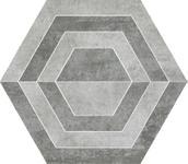 Scratch Grys Heksagon A Mat. 26x29,8 Scratch 26 x 29,8 cm