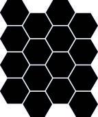 Uniwersalna Mozaika Prasowana Nero Paradyż Hexagon 22x25,5 22 x 25,5 cm