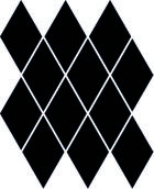 Uniwersalna Mozaika Prasowana Nero Paradyż Romb Pillow 20,6x23,7 20,6 x 23,7 cm