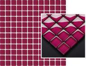 Uniwersalna Mozaika Szklana Bordo 29,8x29,8 Abrila / Purio 29,8 x 29,8 cm