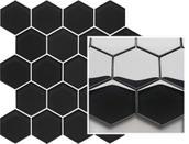 Uniwersalna Mozaika Szklana Paradyż Nero Heksagon 25,8x28 25,8 x 28 cm