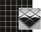 Uniwersalna Mozaika Szklana Paradyż Nero K.4,8X4,8  29,8x29,8 Tenone 29,8 x 29,8 cm