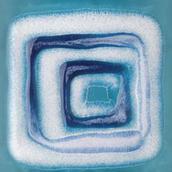 Reflette Azzurro Inserto Kwadrat 9,8x9,8 Reflette 9,8 x 9,8 cm