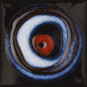 Reflette Nero/rosso Inserto Koło 9,8x9,8 Reflette 9,8 x 9,8 cm