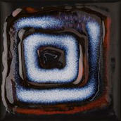 Reflette Nero/rosso Inserto Kwadrat 9,8x9,8 Reflette 9,8 x 9,8 cm