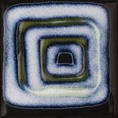 Reflette Nero/verde Inserto Kwadrat 9,8x9,8 Reflette 9,8 x 9,8 cm