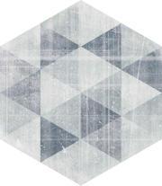 Hexx Universum Motyw Grigio Heksagon 26x26 Hexx Universum  26 x 26 cm