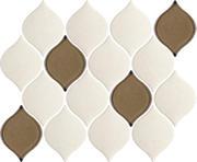 Mistysand Crema Mozaika Prasowana  Arabeska Mix 26,5x20,2 Mistysand 20,2 x 26,5 cm
