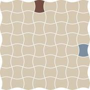 Modernizm Bianco Mozaika Prasowana K.3,6X4,4 Mix A 30,86x30,86 Modernizm 30,9 x 30,9 cm