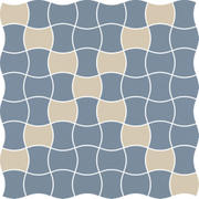 Modernizm Blue Mozaika Prasowana K.3,6X4,4 Mix 30,86x30,86 Modernizm 30,9 x 30,9 cm