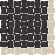 Modernizm Nero Mozaika Prasowana K.3,6X4,4 Mix A 30,86x30,86 Modernizm 30,9 x 30,9 cm