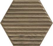Serene Brown Heksagon Struktura Ściana 19,8x17,1 Serene 19,8 x 17,1 cm