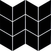 Uniwersalna Mozaika Prasowana Nero Paradyż Romb Braid 20,5x23,8 20,5 x 23,8 cm