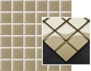Uniwersalna Mozaika Szklana Beige K.4,8X4,8   29,8x29,8 29,8 x 29,8 cm