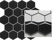 Uniwersalna Mozaika Szklana Paradyż Nero Heksagon 25,8x28 Margarita 25,8 x 28 cm