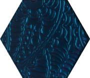Urban Colours Blue Inserto Szklane Heksagon 19,8x17,1 Urban Colours 17,1 x 19,8 cm