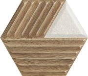 Woodskin Mix Heksagon Struktura C Ściana 19,8x17,1 Woodskin 19,8 x 17,1 cm