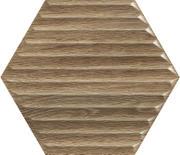 Woodskin Wood Heksagon Struktura B Ściana 19,8x17,1 Woodskin 19,8 x 17,1 cm