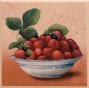 Gloria Beige Inserto Truskawka 10x10 Gloria / Glorian (WYCOFANE) 10 x 10 cm