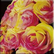 Uniwersalne Inserto Szklane Kwiaty 20x20 Dekoracje szklane 20 x 20 cm